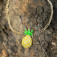 Pineapple Express Necklace-Gold - NEW ARRIVALS