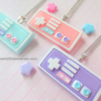 Pastel Mini Nintendo Controller Necklace (Choose One)