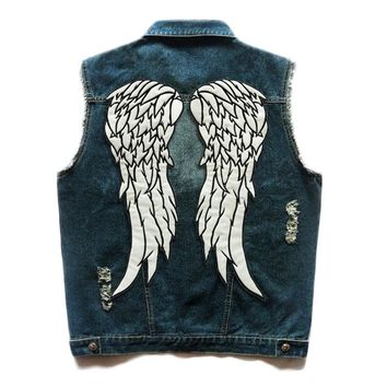 HEROBIKER Motorcycle Vest Classic Vintage Motorcycke Jacket Men Club Denim Vest Biker Motorcycle Rider Vest Sleeveless Clothing