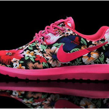 Nike Woman's Roshe London Olympics Print Red Running Shoes 004aw