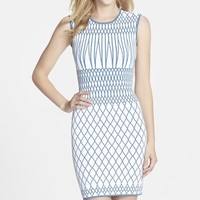 Women's BCBGMAXAZRIA 'Elena' Intarsia Knit Body-Con Dress