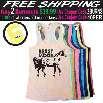 Beast Mode. Burnout Tank Top. Workout Tank Top. Fitness Tank Top. Unicorn Tank Top. Gym Tank Top. Running Tank Top. Free Shipping USA.