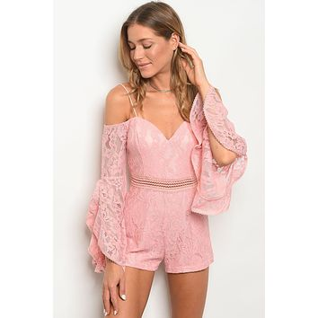 Sweetheart Lace Romper- 3 Colors