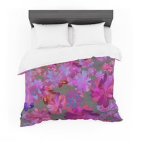 "Marianna Tankelevich ""Purple Flowers"" Pink Blue Featherweight Duvet Cover"
