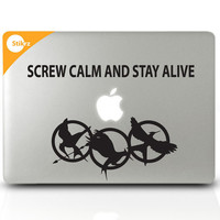 HungerGames inspired MAC DECAL Hunger Games Catching by stikrz