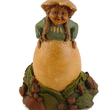"Vintage, Tom Clark, Retired ""Debbie"", Handcrafted, Gnome Figurine, By Cairns Studio"