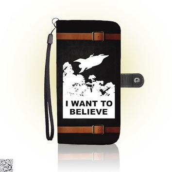 I Want To Believe Planet Express, The Simpsons Wallet Case