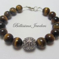 Stackable Bracelet, Natural Tigers Eye Jewelry, Mix and Match Colors for a One of a Kind Look