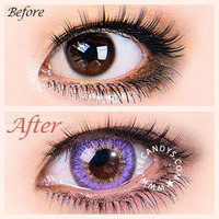 royal vision macaron violet Circle Lenses Colored Contacts Cosmetic Color Circle Lens   EyeCandy's