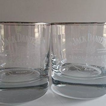 Jack Daniels Single Barrel Select Double Old Fashioned Glasses - Set of 2
