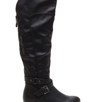 No Question Faux Leather Moto Boots