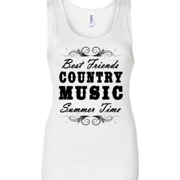 Best Friends Country Music Summertime Tank Top