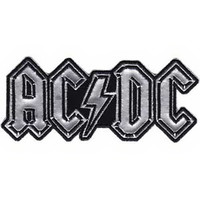 AC/DC Iron-On Patch Silver Letters Logo