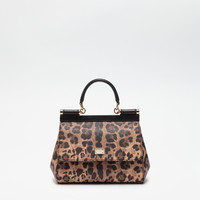 Small sicily bag in leo crepe, small leather bags women | Dolce&Gabbana