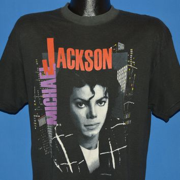 80s Michael Jackson Bad Tour 1988 t-shirt Large