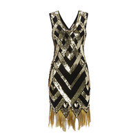 Ritz Vintage Inspired Flapper Embellished Fringe Dress