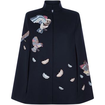 Vilshenko Delmar Embroidered Cape | Harrods.com