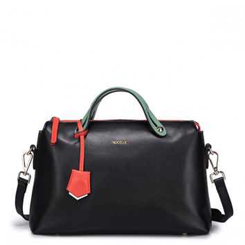 Black Bag With Colorful Handle