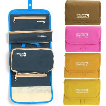 Fashion Women's Multifunction Travel Cosmetic Makeup Case Pouch Toiletry Organizer Foldable Bag Storage Box