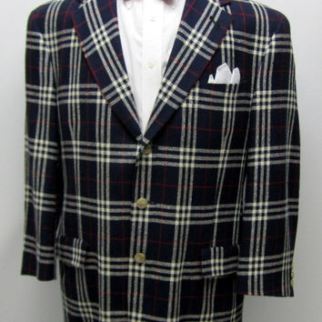 Vintage 70s Tommy Hilfiger Sports Coat, Mens Preppy Jacket, Mens Hilfiger Blazer