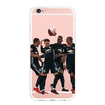 Case Cover For Iphone 5 6 7 8 Plus Apple Manchester United Team Players Football