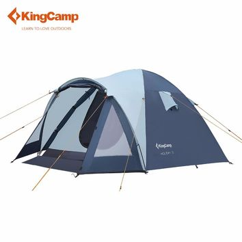 KingCamp Outdoor  Large 3 - 4 Person Tent Tourist Tent Camping Family Tent for Outdoor Recreation Automatic Ultralight