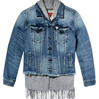 Denim Scarf Hybrid Jacket by Scotch & Soda
