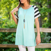 Sleeve It Through Top, Mint