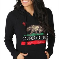 Long Sleeve French Terry Hoodie with California Love Screen