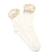 Crochet-Trimmed Pointelle Socks
