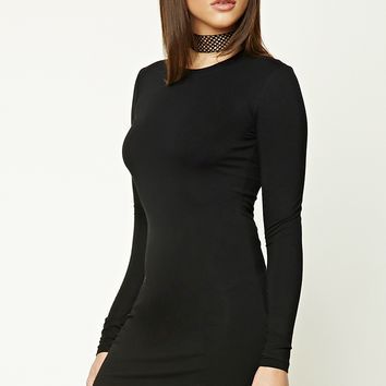 Dolphin Hem Mini Dress