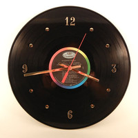 THE BEATLES Vinyl Record Wall Clock Rubber Soul by recordsandstuff