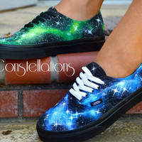 Custom Painted Galaxy/Nebula Shoes