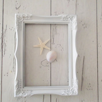 Picture Frame Shabby Chic White Wedding Frame Photo Prop 5 x 7