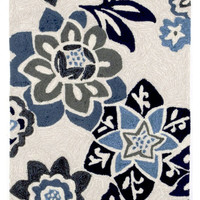 "Floral China Blue 24"" x 8' Indoor/Outdoor Rug"