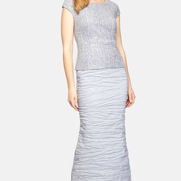 Women's Alex Evenings Sequin Taffeta Mermaid Gown,