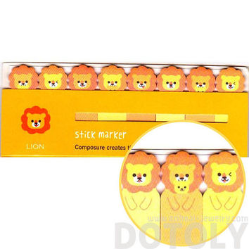 Baby Lion Cubs Shaped Memo Pad Post-it Index Tab Sticky Notes Bookmarks | Cute Animal Themed Stationery Supplies