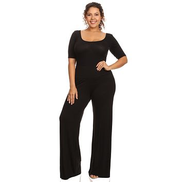 Plus Size Women's High Waisted Palazzo Pants
