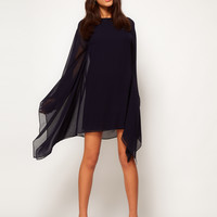 ASOS Shift Dress With Draped Sleeves