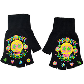 Day of the Dead Darling Fingerless Gloves
