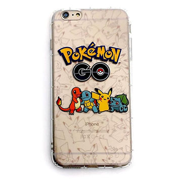 Pokemon Go Transparent Soft TPU Case For iPhone