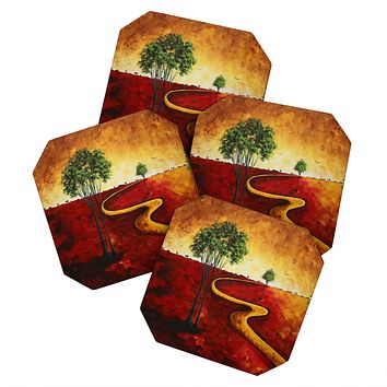 Madart Inc. Road To Nowhere 2 Coaster Set