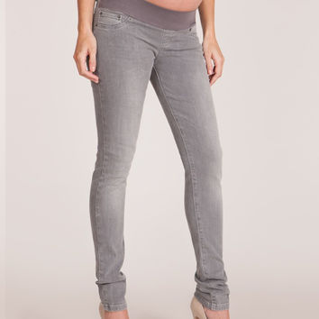 Luxe Gray Skinny Maternity Jeans