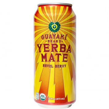 Guayaki Yerba Mate Revel Berry Energy Tea 16 Oz Cans - Case of 12