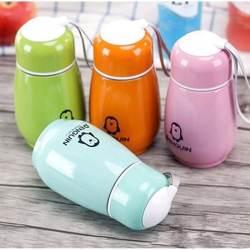 Penguin cup portable cup Water Bottle Stainless Steel Vacuum Cup Insulation Bowling Cup