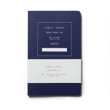 Public Supply Notebook - Blue