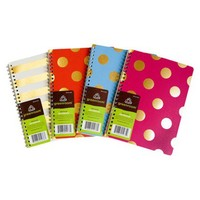 "5.875X8.25"" Greenroom Recycled Spiral Metallic Notebook - Assorted"