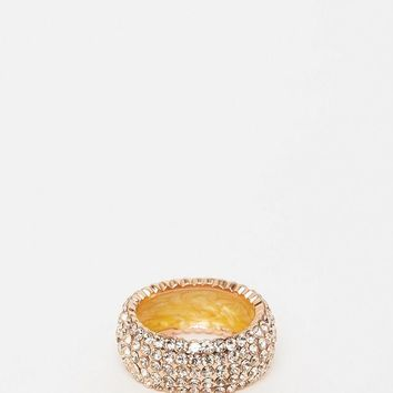 Izoa Rose Gold and Peach Crystal Ring
