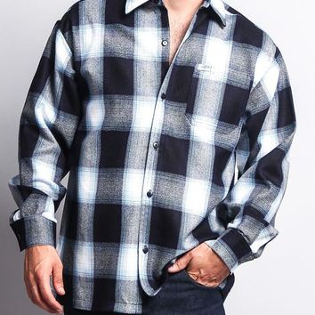 Western Casual Plaid Long Sleeve Button Up Shirt