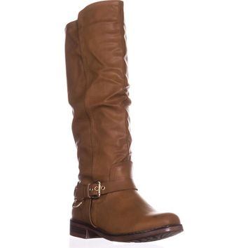 XOXO Mauricia Tall Riding Boots, Tan, 8.5 US / 40 EU